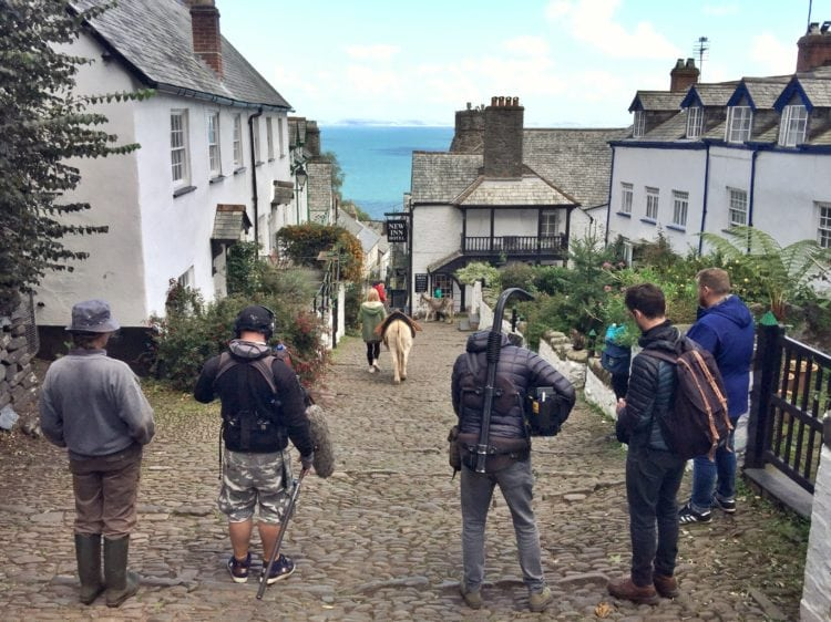 BBC filming Clovelly